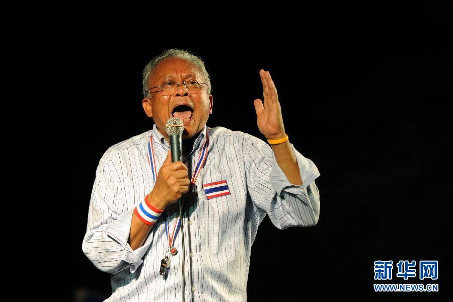 (国际)(1)素贴号召泰国反政府示威者继续集会