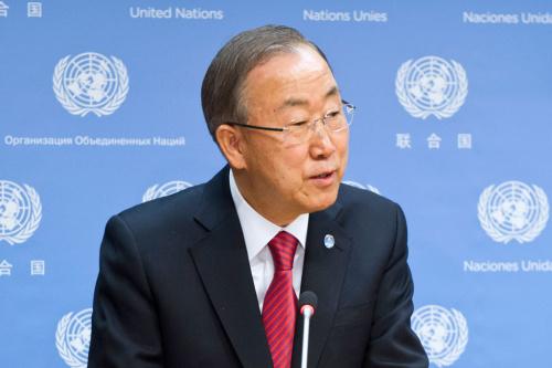 图为联合国秘书长潘基文。图片来源:联合国网站