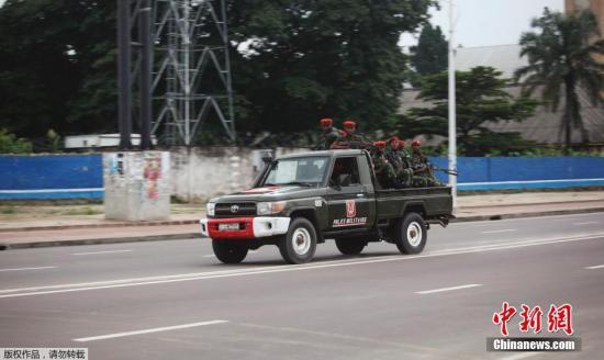 资料图:刚果(金)政府称,该国首都金沙萨30日发生一次暴动,歹徒劫持人质并向机场与军方总部开枪。