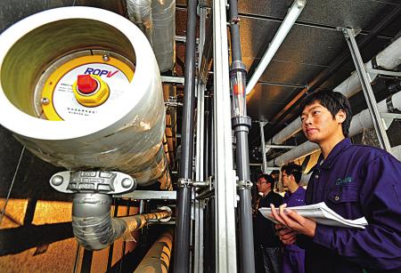 渗滤液应急系统的反渗透设备。