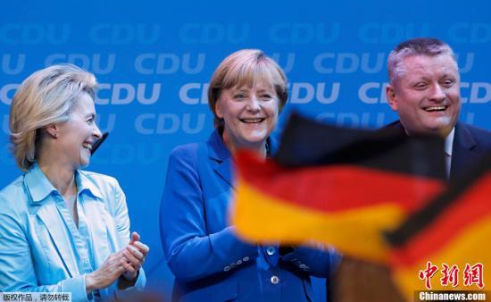 默克尔在新任期首次演讲中促修改欧盟条约(图)