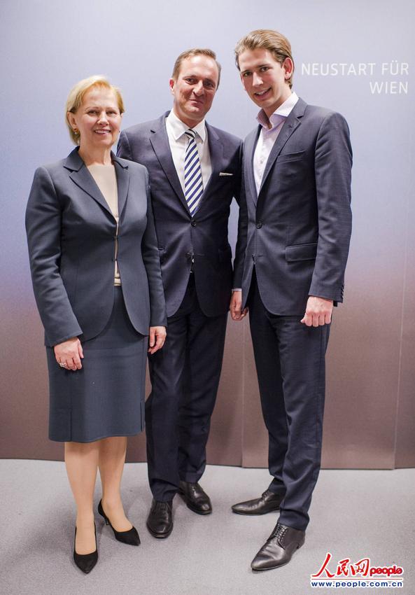 年仅27岁的奥地利外交部长库尔茨(右)(图片来源:东方IC 版权所有,违者必究)