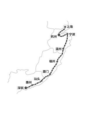 杭州-宁波-台州-温州-福州-厦门-深圳