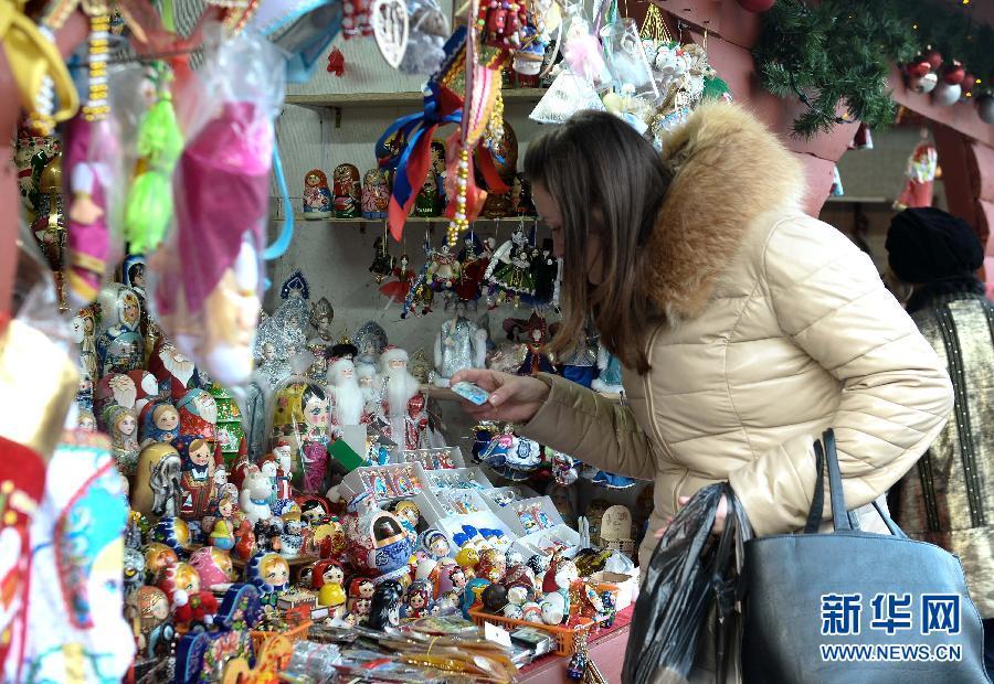 """(国际)(3)莫斯科""""盛装""""迎接新年到来"""