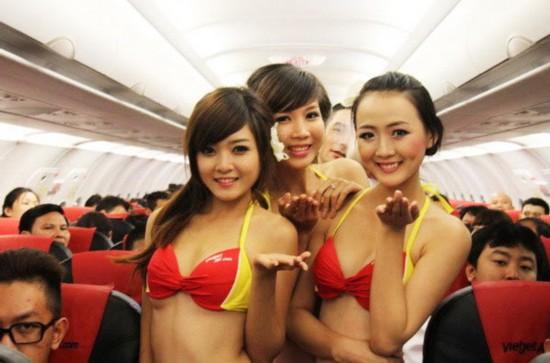 越南客机上举行比基尼选美比赛