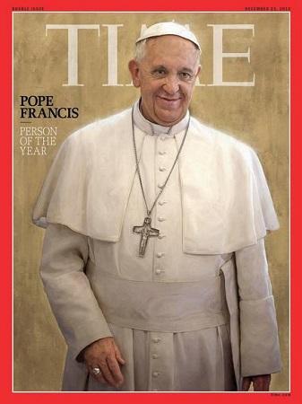 教皇弗朗西斯一世当选《时代》周刊年度人物