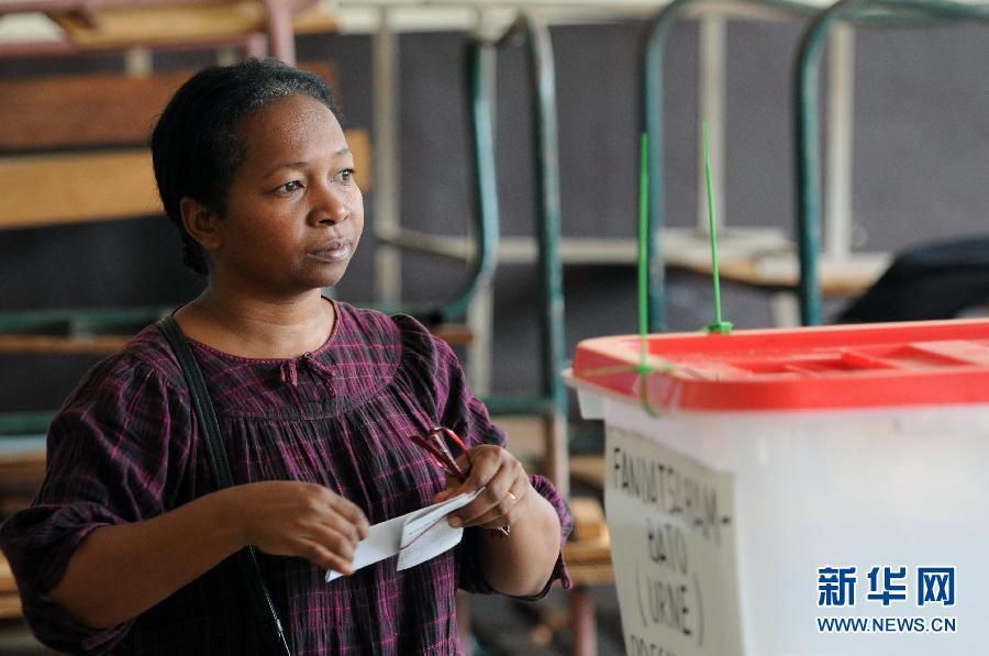 (国际)(2)马达加斯加总统选举第二轮投票开始