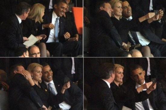 丹麦首相欲删除曼德拉追悼会自拍照 卡梅伦吁慈善拍卖