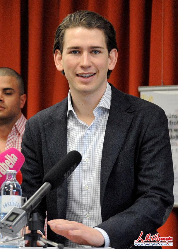 年仅27岁的奥地利外交部长库尔茨(图片来源:东方IC 版权所有,违者必究)