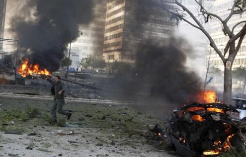 黎巴嫩首都爆炸致4人死10伤一前部长遇难(图)