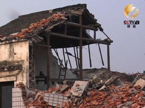 牛车垛村被拆掉的房屋