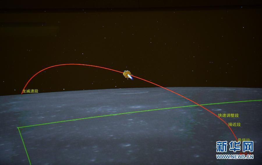 (嫦娥三号)(4)嫦娥三号开始落月