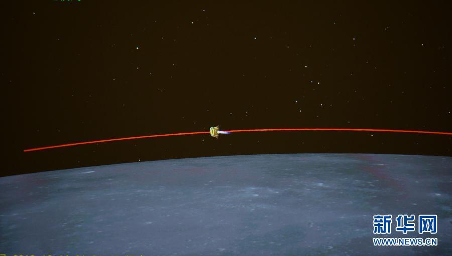(嫦娥三号)(3)嫦娥三号开始落月