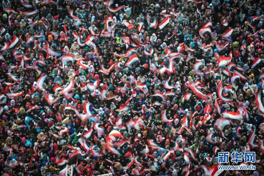 (XHDW)(1)埃及民众庆祝推翻穆巴拉克政权三周年