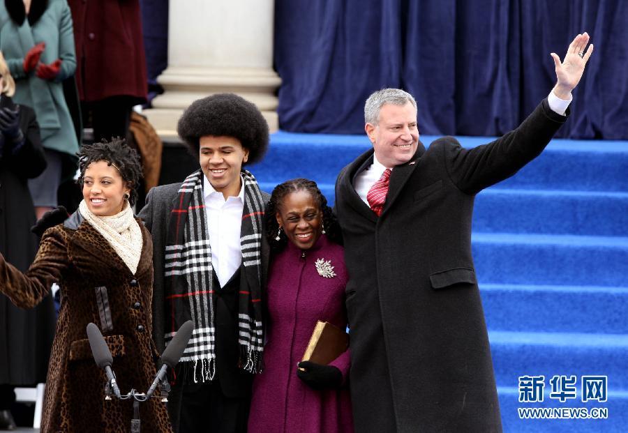 (国际)(4)纽约新市长宣誓就职