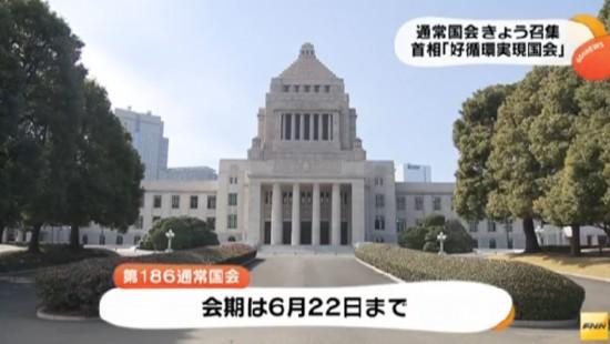日本国会即将召开安倍称其为实现经济好循环
