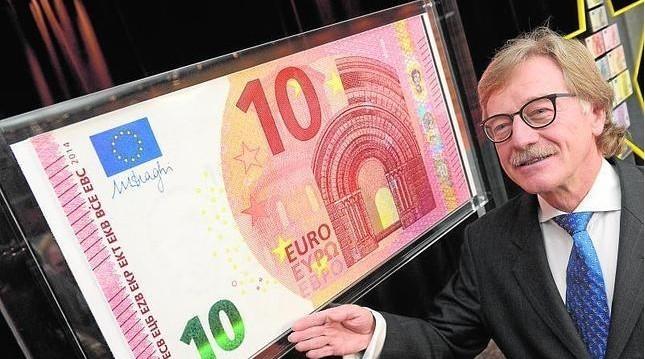 欧洲央行发布新版10欧纸币 新币9月开始流通