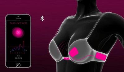 智能文胸可测女性心跳遇真爱心跳加速自动解锁