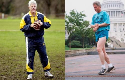 """克林顿曾经最爱墨西哥风味吉士汉堡,但声称跑步使自己""""重生"""",健康状况得到了长足改善。2010年受心脏病影响,克林顿开始完全食素以追求更健康的生活。"""