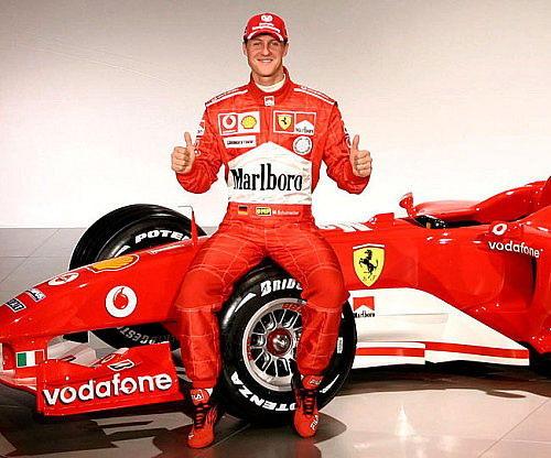 资料图:7届F1世界冠军迈克尔·舒马赫