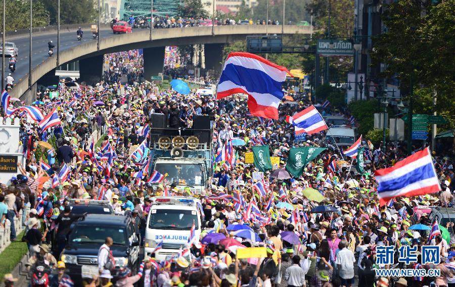 (国际)(6)泰国反政府示威者继续集会