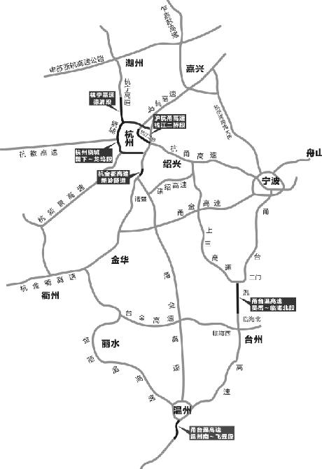 今年春运全省高速公路各大堵点示意图。 制图 赵星