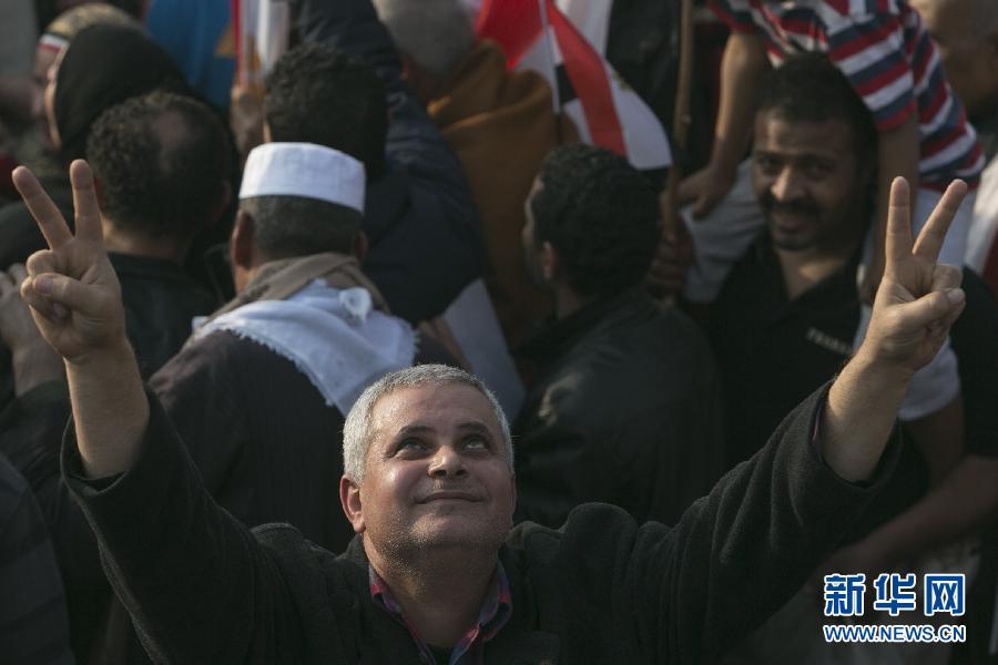 (国际)(6)开罗举行集会庆祝推翻穆巴拉克政权三周年