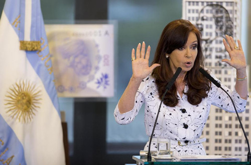 阿根廷女总统脑部手术后首度公开讲话(图)