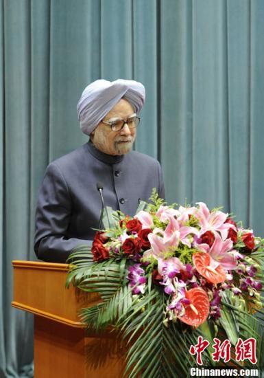 资料图:印度总理辛格。中新社发 侯宇 摄