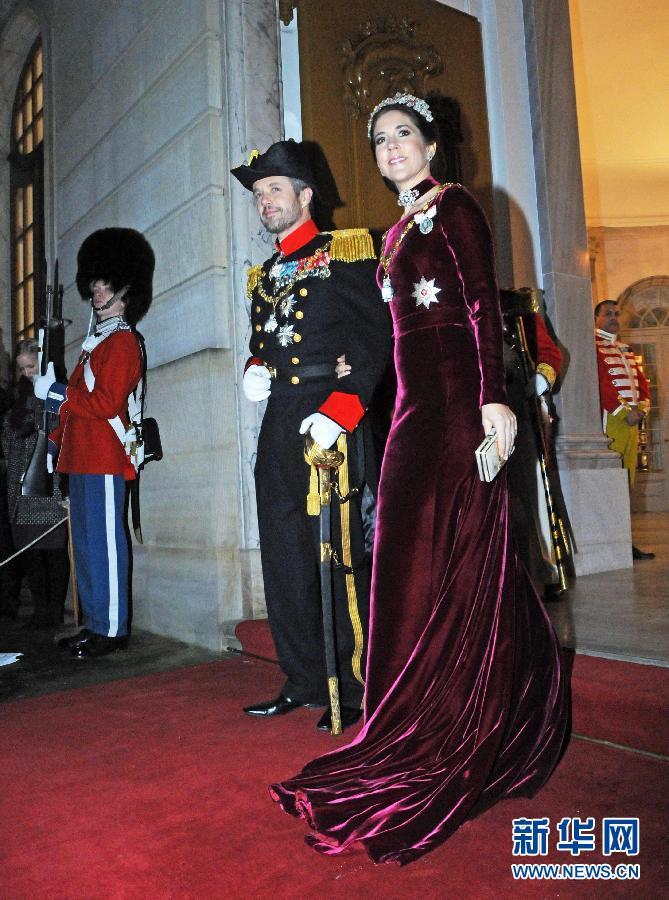 (国际)(2)丹麦女王举行新年招待会