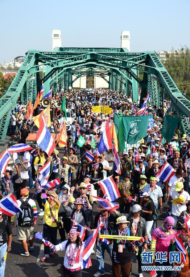 (国际)(4)泰国反政府示威者继续集会