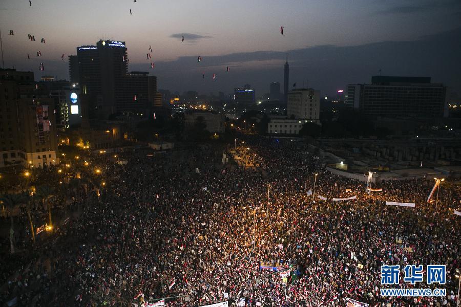 (XHDW)(5)埃及民众庆祝推翻穆巴拉克政权三周年