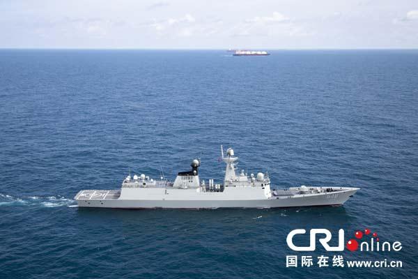 中国海军盐城舰。胡全福 摄