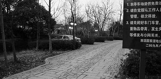 昨天,桃源七里停车场空空荡荡。