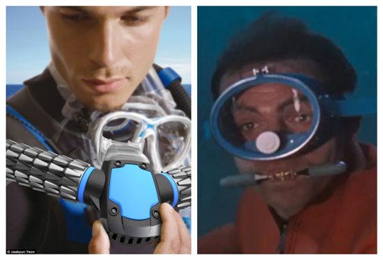 水下机器功能似鱼鳃神器助人类变成鱼(图)