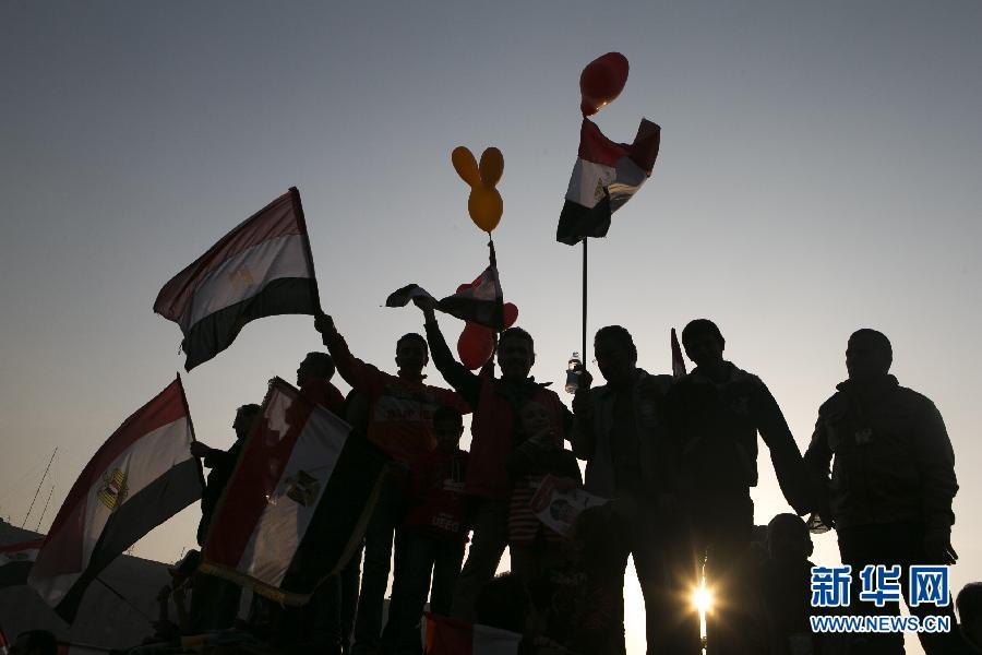 (国际)(9)开罗举行集会庆祝推翻穆巴拉克政权三周年