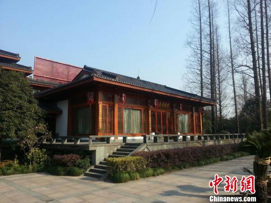 图为杭州西湖著名会所西湖会。