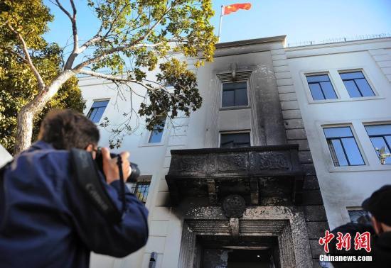 """中国驻美领馆纵火犯被捕驻美大使称系""""犯罪事件"""""""