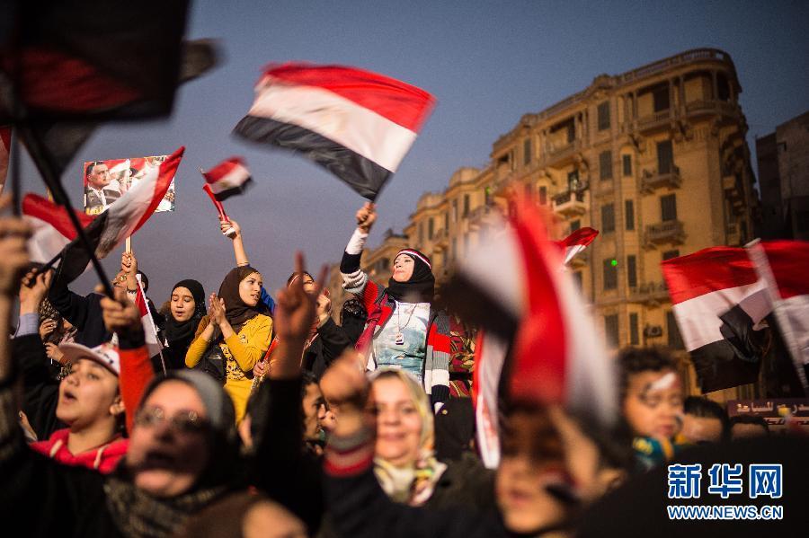(国际)(3)埃及民众庆祝推翻穆巴拉克政权三周年