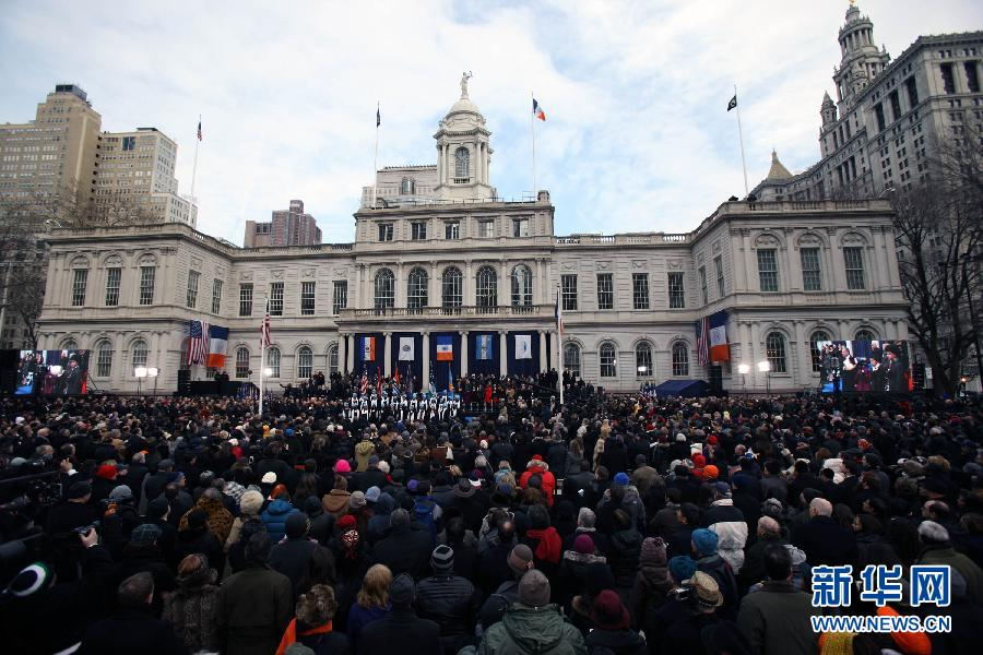 (国际)(1)纽约新市长宣誓就职