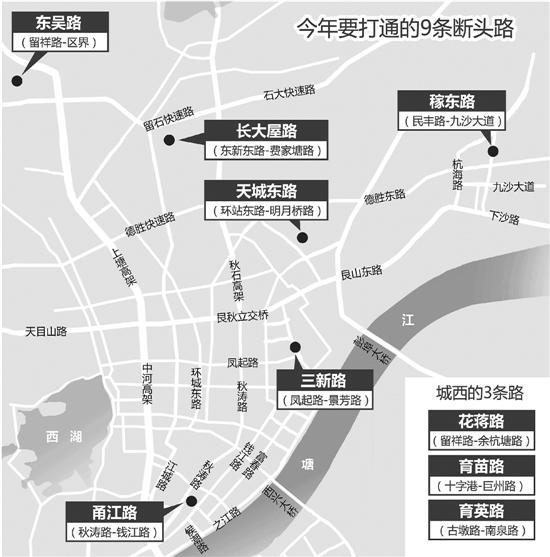 杭州今年计划增5万个停车位 9条断头路有望打通